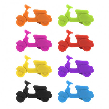 8 Segna bicchieri in silicone - SCOOTER by BALVI
