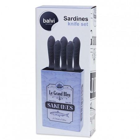 Set 6 coltelli inox con ceppo - SARDINES by Balvi