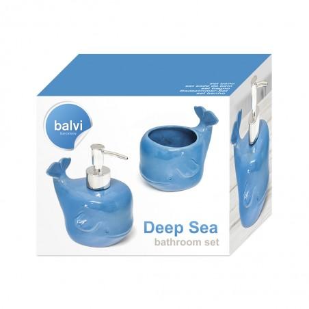 Set da bagno 2 pezzi in ceramica - DEEP SEA by BALVI