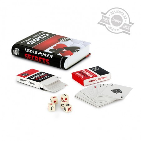 Set poker in scatola di metallo - POKER SECRETS  by BALVI