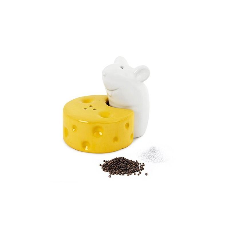 set sale e pepe formaggio e topolino in ceramica - I LOVE CHEESE