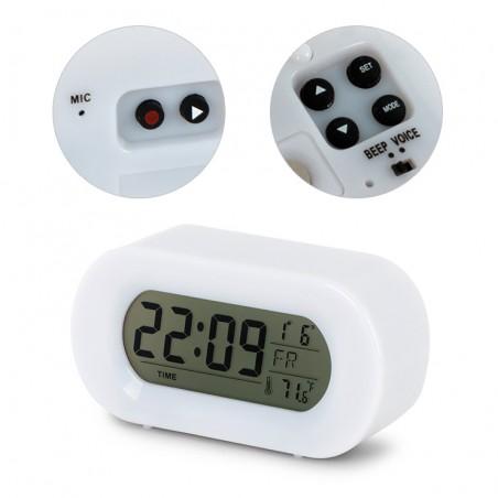 Sveglia digitale a batterie e registratore di messaggi - SATURN by Balvi