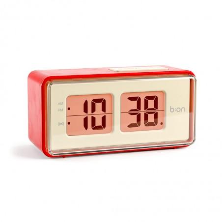 Orologio sveglia con movimento flip colore rosso o nero - FLIP by BALVI