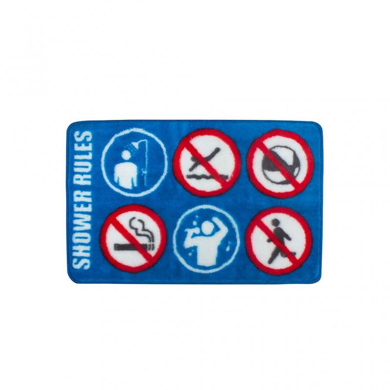 Tappeto da bagno con divieti - SHOWER RULES by BALVI