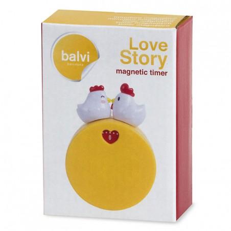Timer magnetico con gallina e gallo - LOVE STORY by BALVI