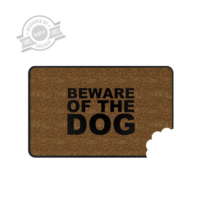Zerbino con morso di cane - BEWARE OF DOG by BALVI