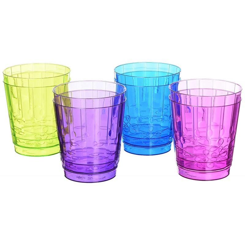 Confezione 8 bicchieri in 4 colori assortiti - PLASTIC & CHIC by GIVI