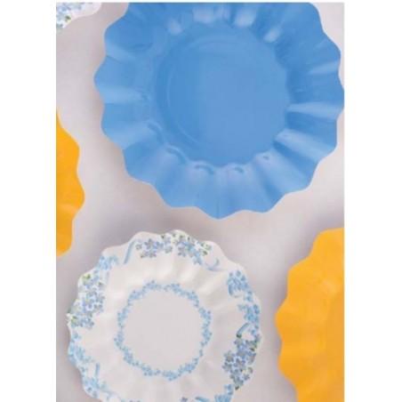 8 piatti di carta biodegradabile colore indaco - NEW WAVE by GIVI ITALIA