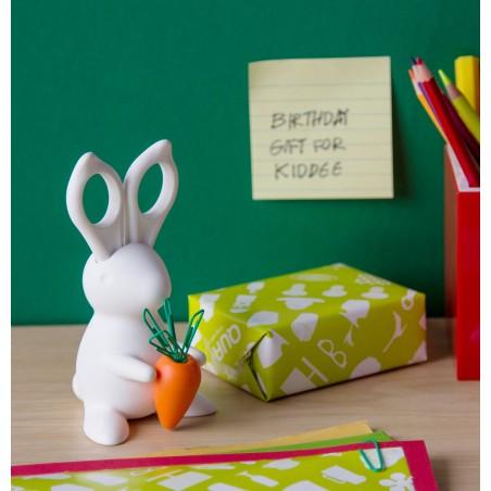 Forbici e magnete con supporto colore bianco - DESK BUNNY by Qualy