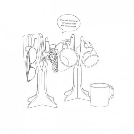 Albero portagioie o porta accessori colore nero - HANG ON by QUALY