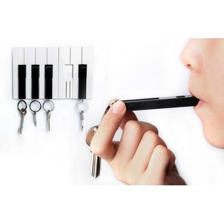 5 Portachiavi con supporto da parete a forma di piano - KEY PIANO by QUALY DESIGN
