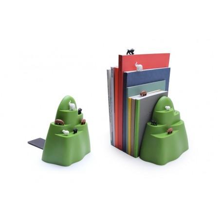 Fermalibri con 6 segnalibri animali - BOOK MOUNTAIN by QUALY DESIGN