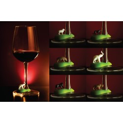 6 Segnabicchieri calici con animali del caldo - HOT WINE ANIMAL by QUALY