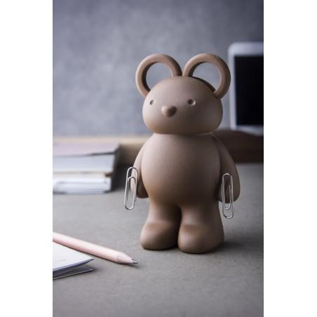 Forbici con supporto porta graffette Orsetto colore marrone - TEDDY BEAR by QUALY