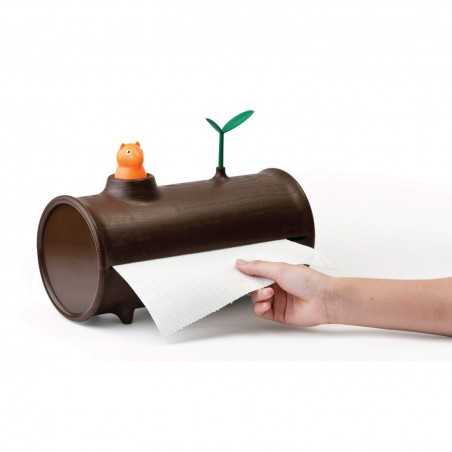 Portarotolo carta casa a forma di Tronco- LOG & ROLL by Qualy