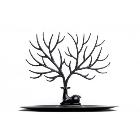Portagioie e svuotatasche S colore nero - MY DEER TRAY by Qualy