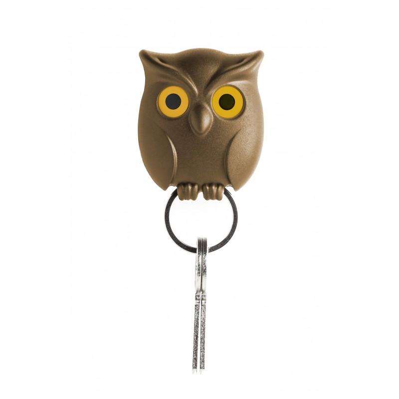 Gancio portachiavi da parete con movimento occhi - NIGHT OWL by QUALY