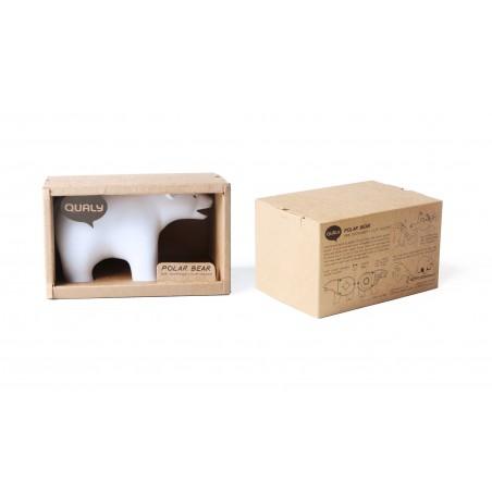 Dispenser nastro adesivo e contenitore per graffette colore bianco - TEDDY BEAR by QUALY DESIGN