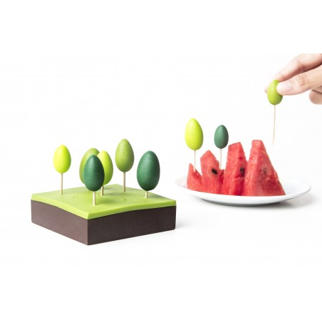 Portastuzzicadenti per aperitivi con scatola - FOREST by QUALY DESIGN
