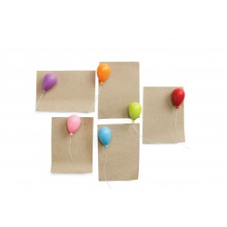6 Calamite a forma di palloncini colori mix - BALLOON by QUALY