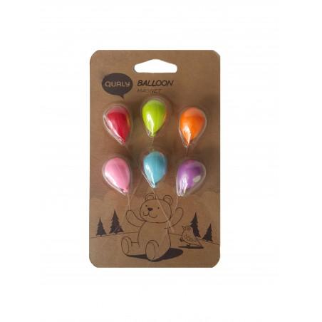 6 Calamite a forma di palloncini colori mix - BALLOON by QUALY