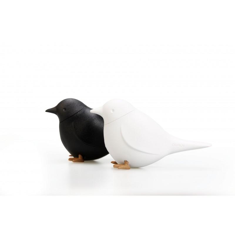 Set sale e pepe a forma di uccellini colore bianco e nero - SPARROW by QUALY