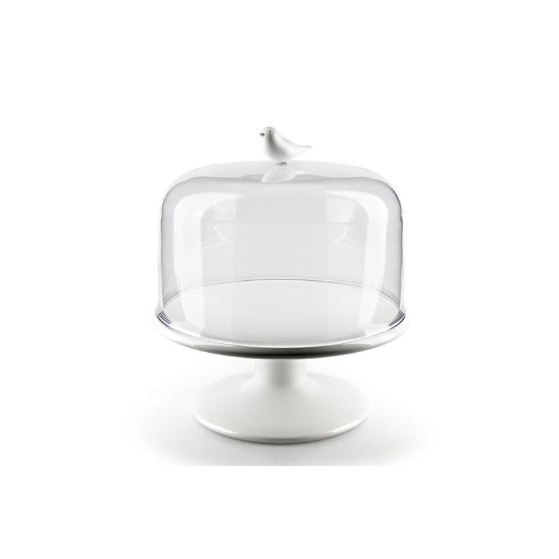 Alzata porta dolci uccellino colore bianco diam 24 cm - SWEET TWEET TRAY M By Qualy Design