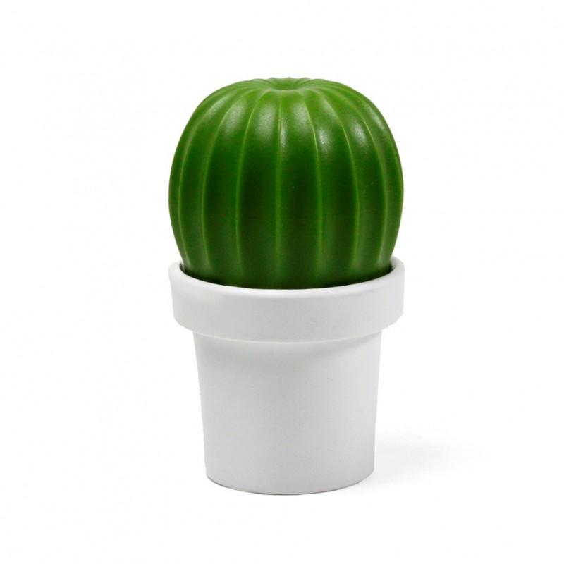 Macinino sale o pepe a forma di cactus colore vaso bianco- CACTUS by QUALY DESIGN