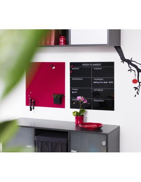 Lavagna magnetica in vetro cm 45x45 colore rosso - by NAGA