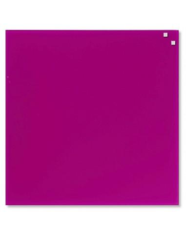 Lavagna magnetica in vetro cm 45x45 colore rosa - by NAGA