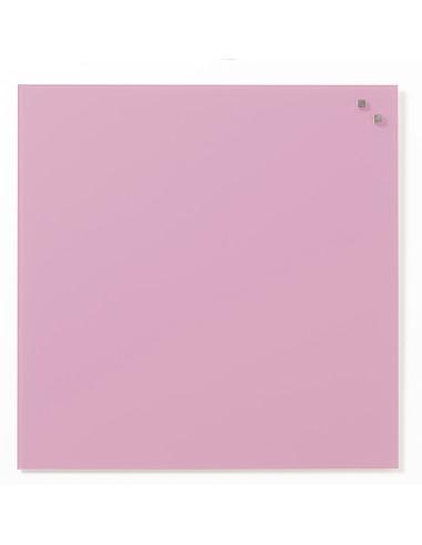Lavagna magnetica in vetro cm 45x45 colore rosa chiaro - by NAGA
