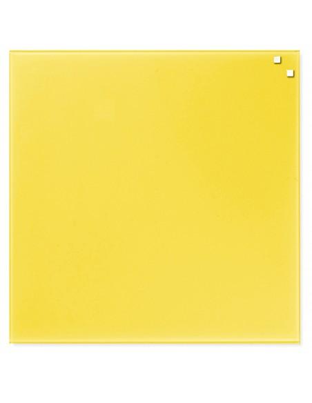 Lavagna magnetica in vetro cm 45x45 colore giallo - by NAGA