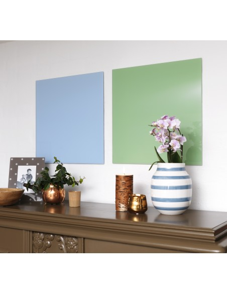 Lavagna magnetica in vetro cm 45x45 colore verde retrò - by NAGA