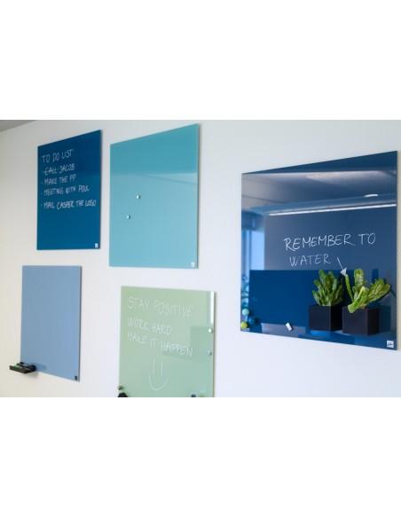 Lavagna magnetica in vetro cm 45x45 colore blu jeans - by NAGA