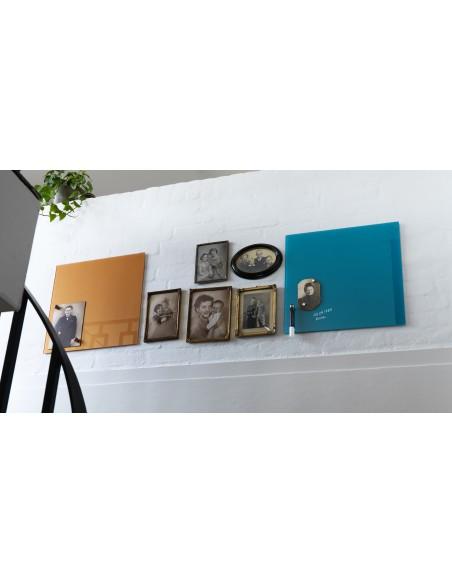 Lavagna magnetica in vetro cm 45x45 colore rame - by NAGA