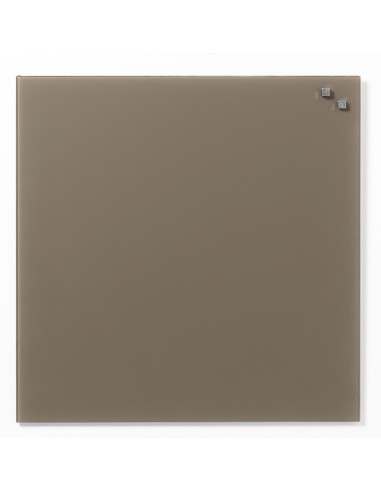 Lavagna magnetica in vetro cm 45x45 colore beige - by NAGA