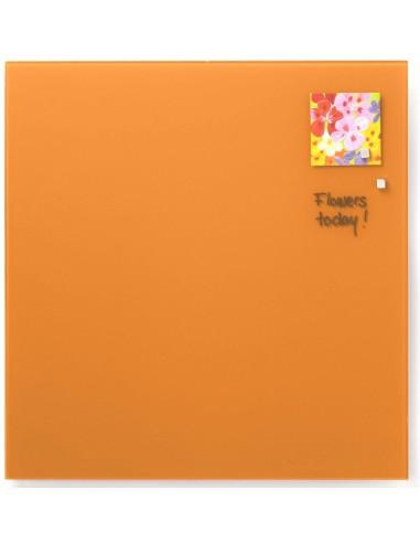 Lavagna magnetica in vetro cm 45x45 colore arancione - by NAGA