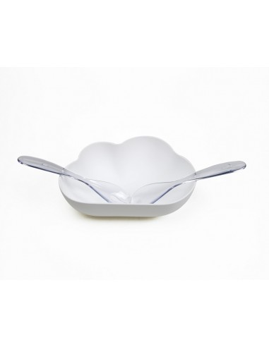 Set insalatiera e 2 posate colore bianco - CLOUD by QUALY
