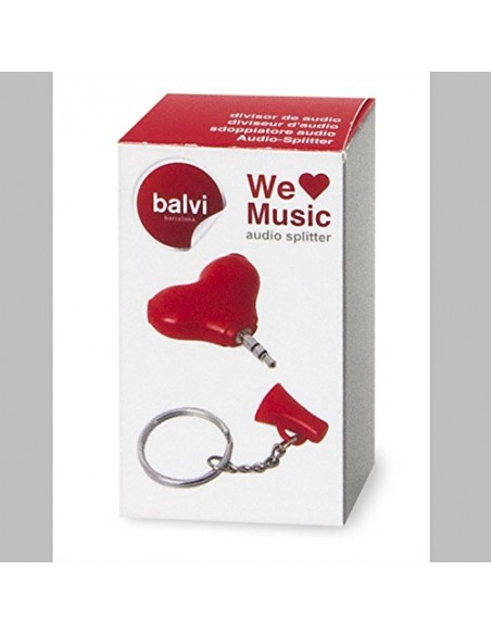Sdoppiatore audio portachiavi a forma di cuore - WE LOVE MUSIC by BALVI