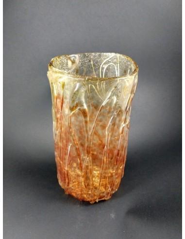 Vaso in vetro di Murano con colature  - The Glass Cathedral Santa Chiara