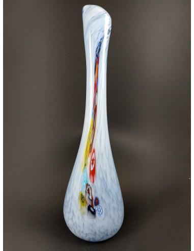 Vaso in vetro di Murano effetto ghiacciato - The Glass Cathedral Santa Chiara