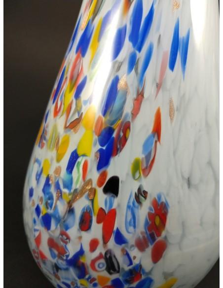 Vaso in vetro di Murano effetto ghiacciato e colori- The Glass Cathedral Santa Chiara