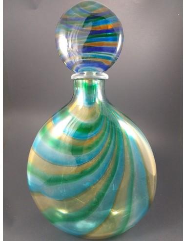 Grande bottiglia in vetro di Murano con tappo h 42 - The Glass Cathedral Santa Chiara