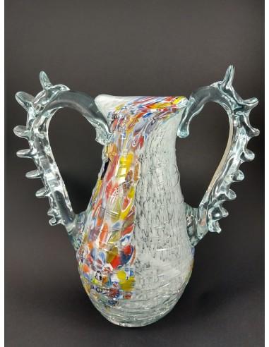 Anfora vetro di Murano lusso con colature h 25 cm - The Glass Cathedral Santa Chiara