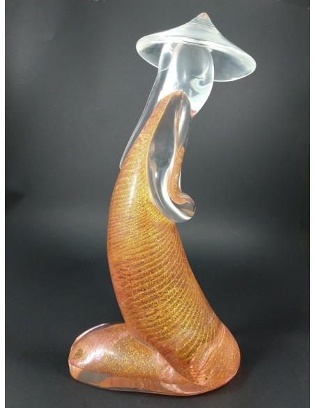 Cinese Inginocchiato scultura in vetro di murano oro 24 carati - The Glass Cathedral Santa Chiara