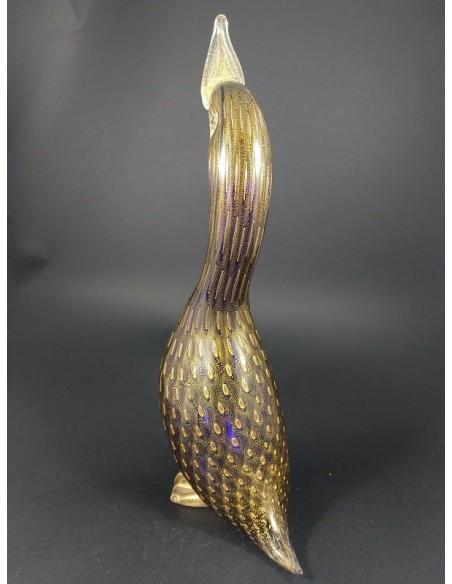 Papera scultura in vetro di murano con foglia d'oro 24 Kt - The Glass Cathedral Santa Chiara