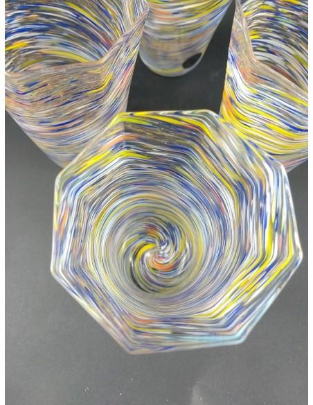 Set 4 bicchieri in vetro di Murano soffiati - The Glass Cathedral Santa Chiara