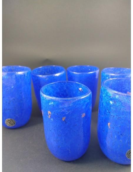 Set 6 bicchieri in vetro di Murano blu - The Glass Cathedral Santa Chiara