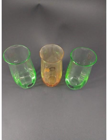 Set 3 bicchieri in vetro di Murano V. Nason & C - The Glass Cathedral Santa Chiara