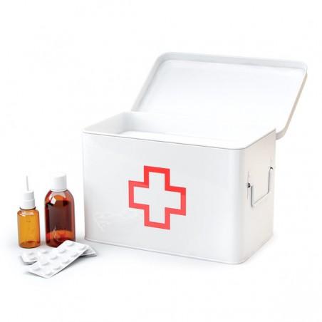 Scatola per medicinali in metallo L - PRONTO SOCCORSO by BALVI
